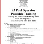 PA Pest Class Flyer Jan 2016