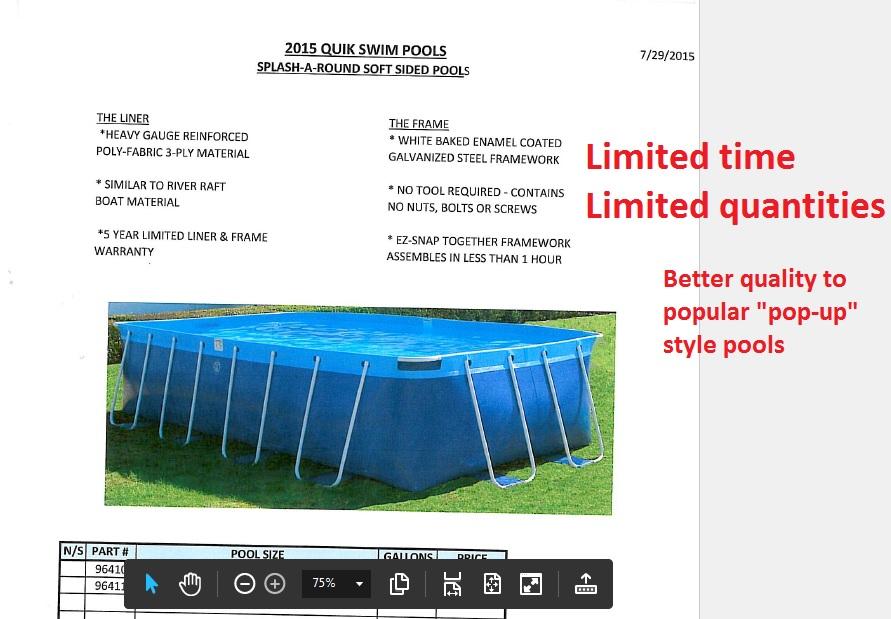Quik-Swim Sale