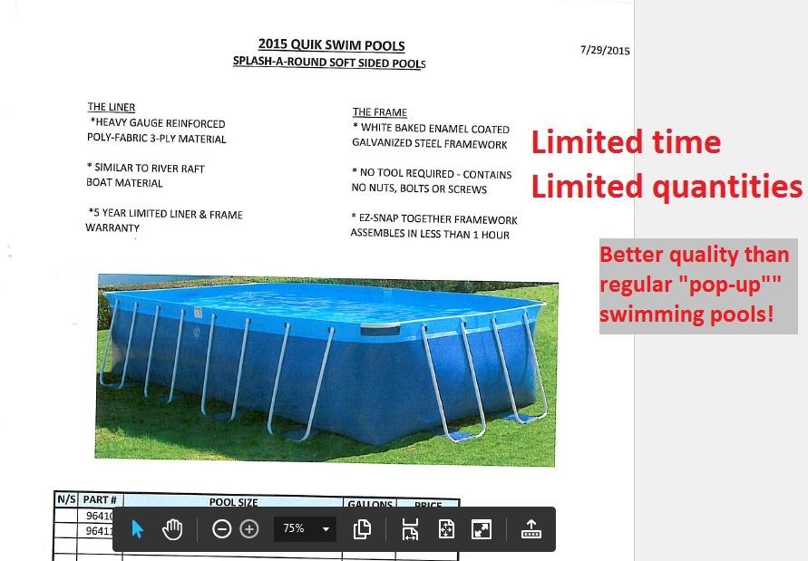 Quik-Swim Sale 2