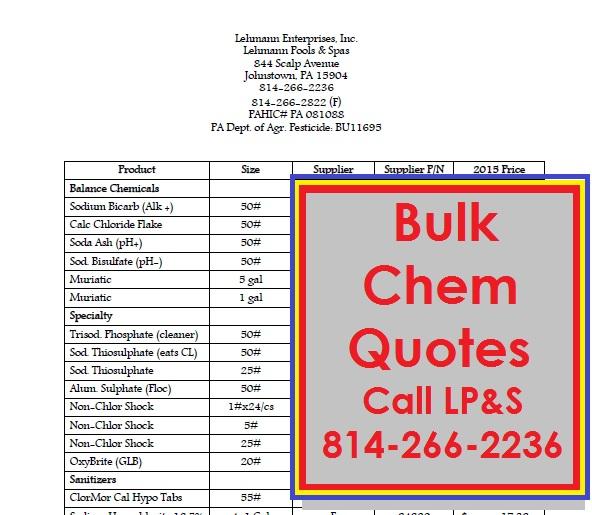 Bulk Chem Quotes